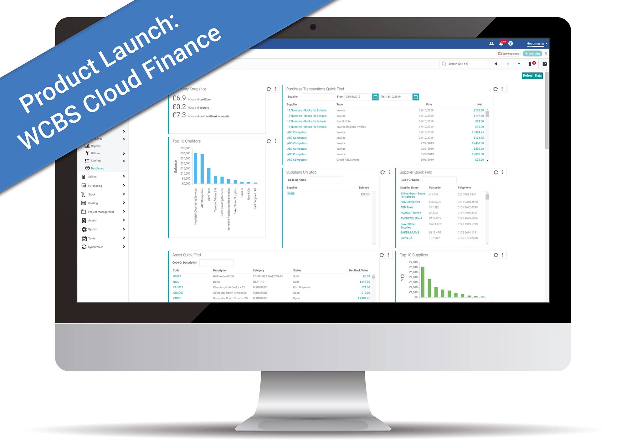 WCBS Cloud Finance Software for Independent Schools